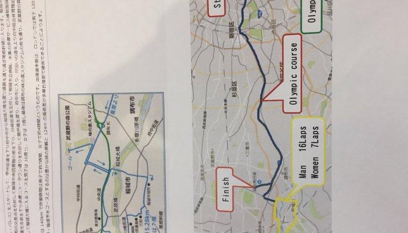 2020東京オリンピックのロードレースのコース予定