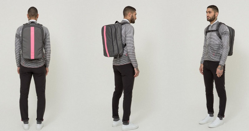 Rapha REFLECTIVE BACKPACK 2017 グレーxピンク