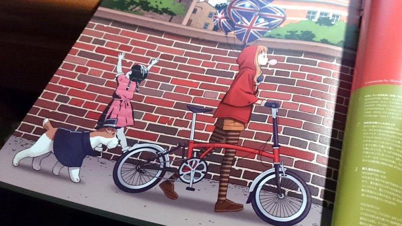 ロードバイクと美少女