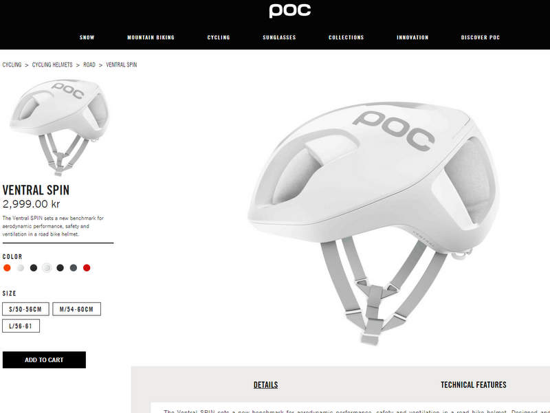 POC ロードバイク用ヘルメットVentral