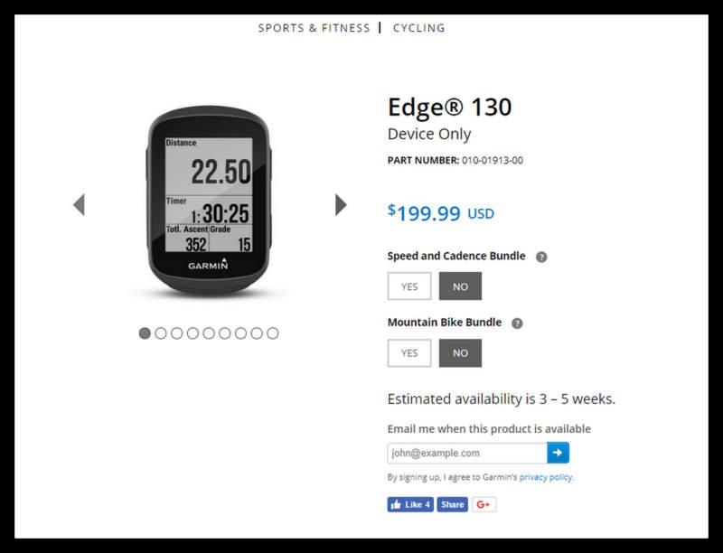 Garmin Edge 130&520Plus(ガーミンエッヂ130と520プラス)