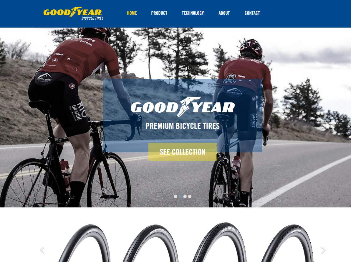 グッドイヤーのロードバイク用タイヤ