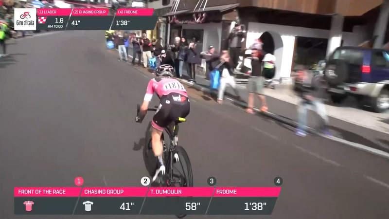 2018ジロ・デ・イタリア第15ステージ。サイモン・イエーツのアタック。