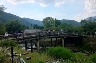 ロードバイクで嵐山