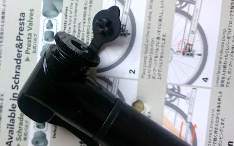 ロードバイク携帯ポンプ LANDCAST