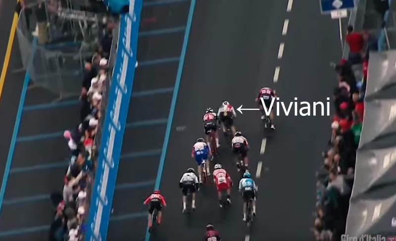 2019ジロ第3ステージ。エリア・ヴィヴィアーニの動き。
