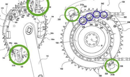 SRAMの新しいワイヤレス変速システム(フロント)