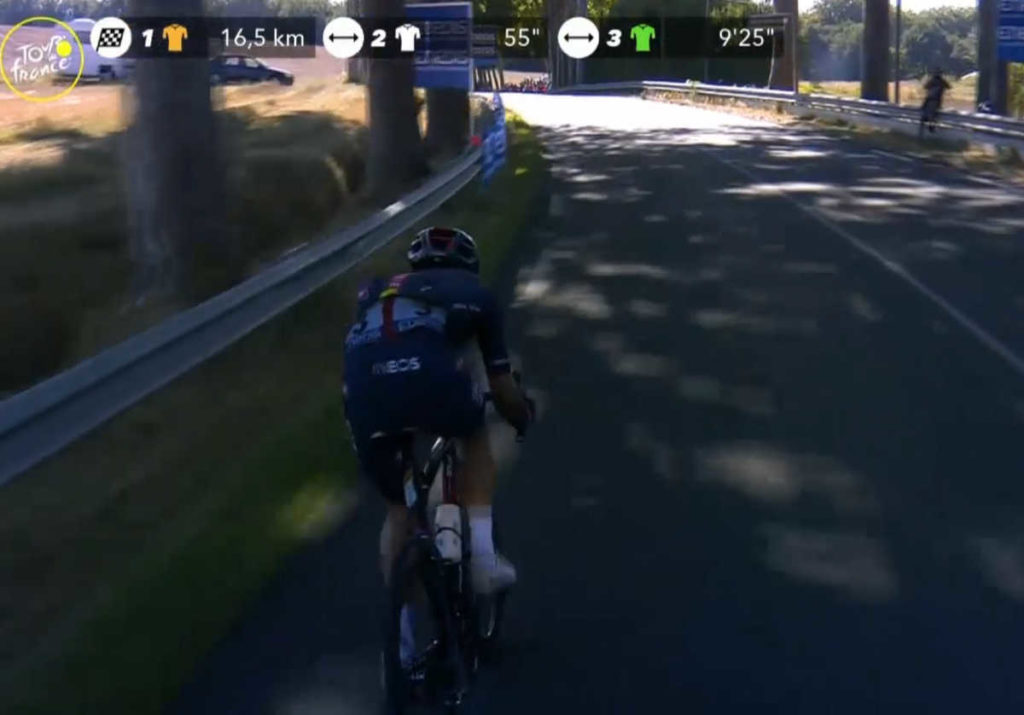 2020ツール・ド・フランス第7ステージのリカルド・カラパス