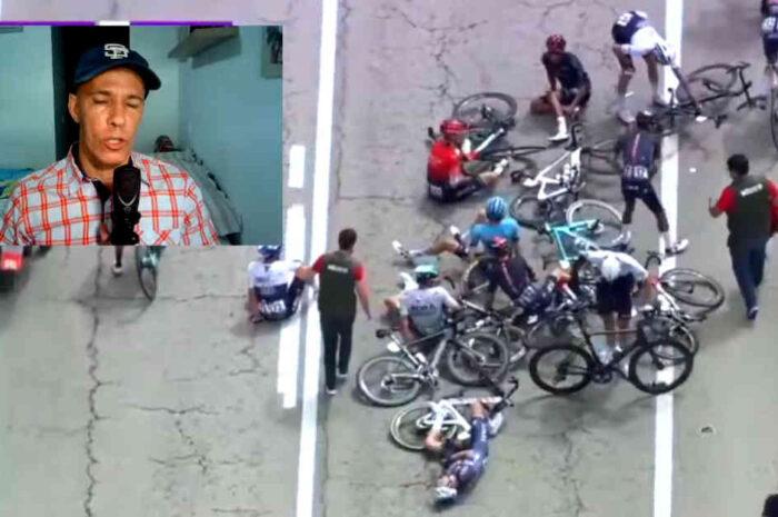 イネオスを落車が襲う!ベルナルらが負傷。ブエルタ・ブルゴス2021第1ステージ