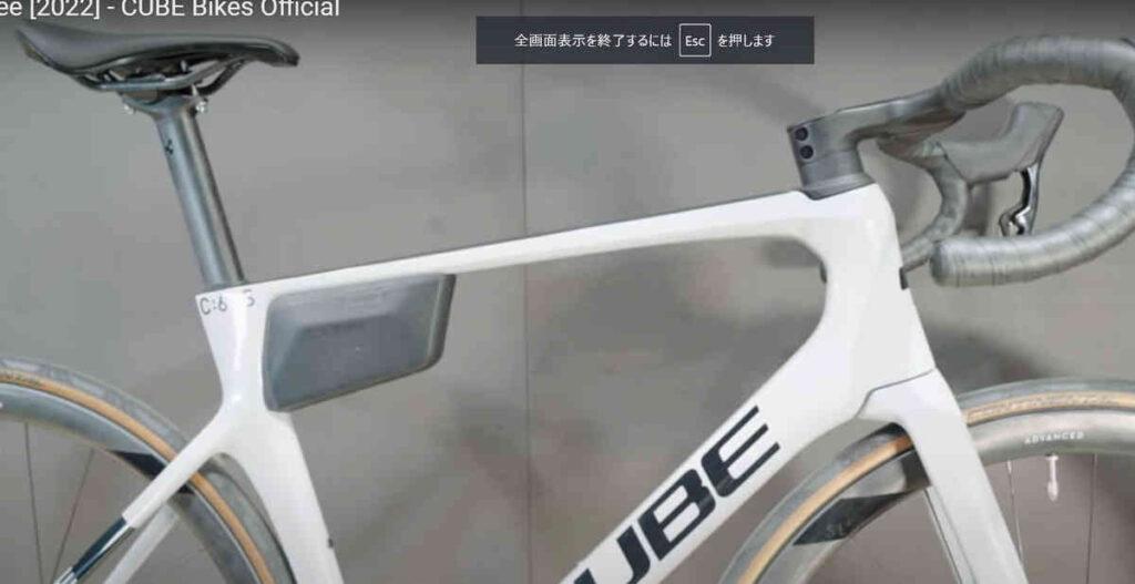 CUBEのエアロロードバイクの2022 AGREE C:62