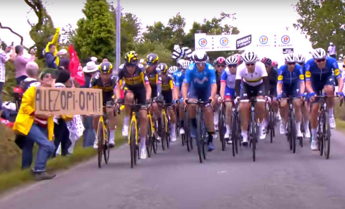 2021ツール・ド・フランスのOpi-Omi観客による落車